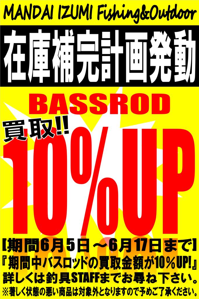 バスロッド10%
